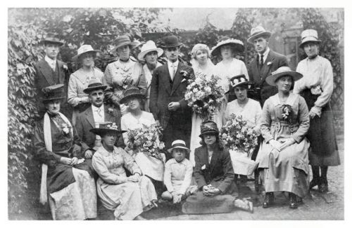 Old wedding photo fashion 1917