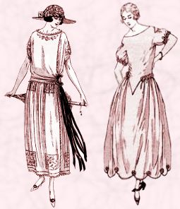 Fashion-era weddings - Some dress silhouettes of 1922 from La Mode.