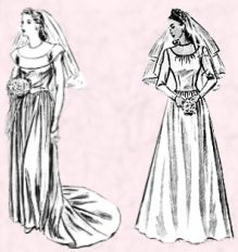 1945 Wedding Dress Patterns for Brides
