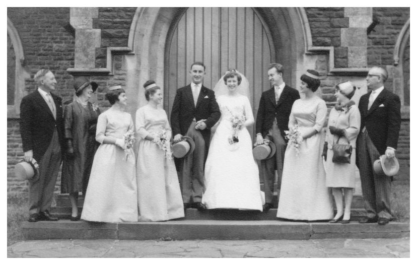 1963 Wedding Dress Picture Of Bride And Group Sewing