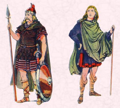 An Anglo-Saxon Warrior and an Anglo-Saxon Man