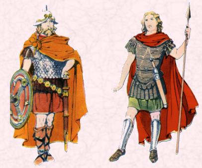 Sixth Century Costume History - A British Chief & A British Soldier