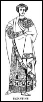 Drawing of Byzantine dress