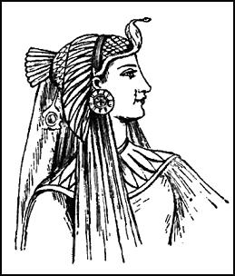 Colouring-in picture line drawing of Egyptian headdress.