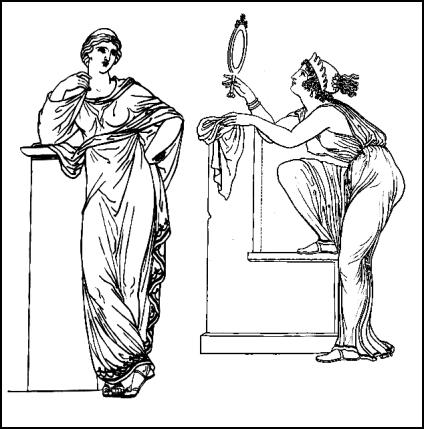 Greek costumes for women - the fabric can be fairly diaphanous, or if you prefer select material which is totally opaque