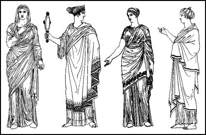 Female costume and fashion of ancient Greece.