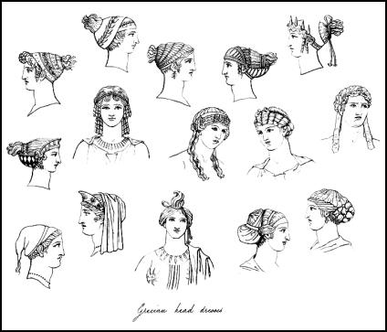 Greek hairstyles for women and taken from Hope's Book of Antiquities.