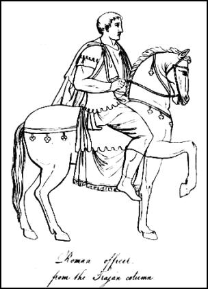 Picture of Roman Officer from the Trojan column. Horseman.
