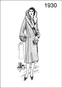1930 fashionable coat - Figure L2524 shows a wrap coat of check pattern material.