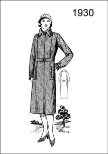 1930 coat style - The coat reproduced on Figure L2521 whilst of a fancy design is equally useful and made to wear during inclement weather