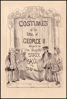 Title cover - Costumes of the Reign of George II in Designed for Her Majesty's State Ball by J. & J ONWHYN
