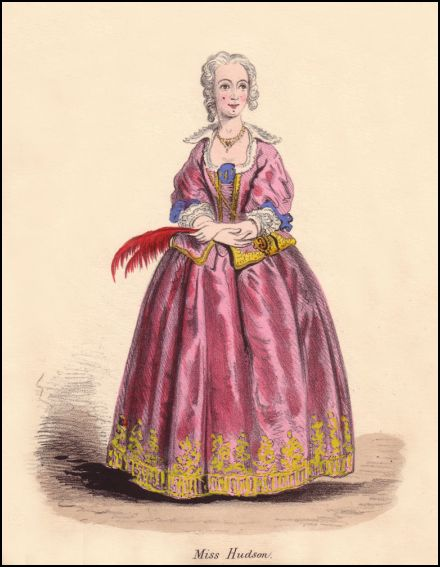 Georgian style plate of Miss Hudson a young Georgian girl