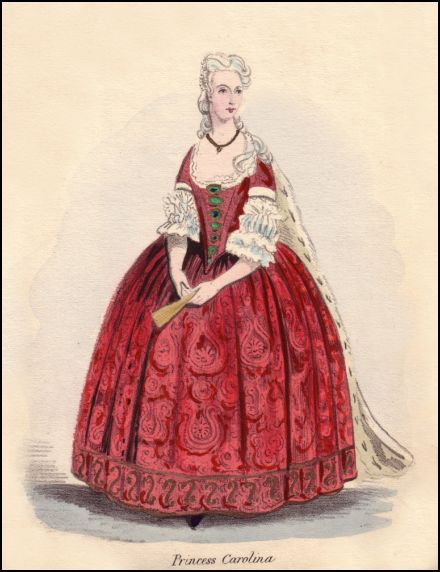 Onwhyn costume plate depicting Princess Carolina