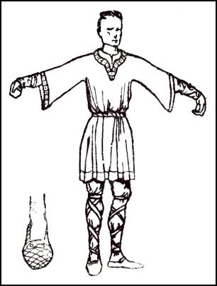 Male Tunic 1066 - A MAN OF THE TIME OF WILLIAM 1