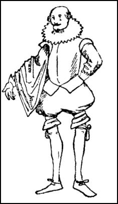 Old Elizabethan Man - Colouring In Image