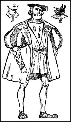 Colouring Drawing - Man's Clothes - Tudor Times