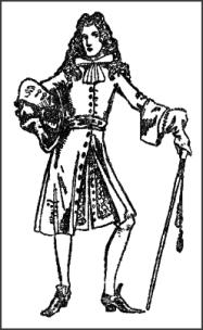 Gentleman Wearing Bow Tied Neckcloth - Late C17th Coat
