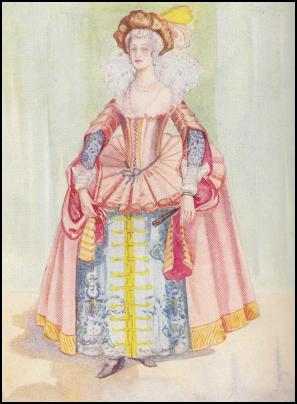 Jacobean Lady Farthingale Costume - 1603-1625