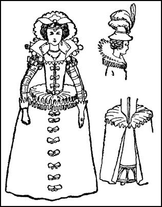 Jacobean Lady's Gown Costume - 1603-1625