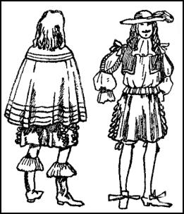 1660 - Men Feather Hats, Shoes & Cloaks
