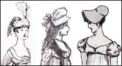 GEORGIAN BONNET HAT FASHION DRAWINGS 1794.