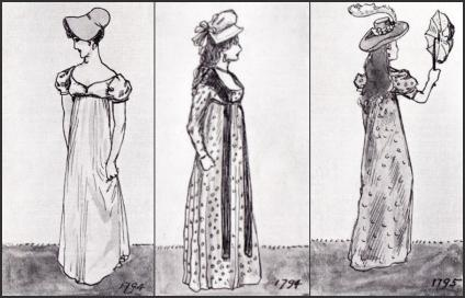 Georgian Empire Gowns
