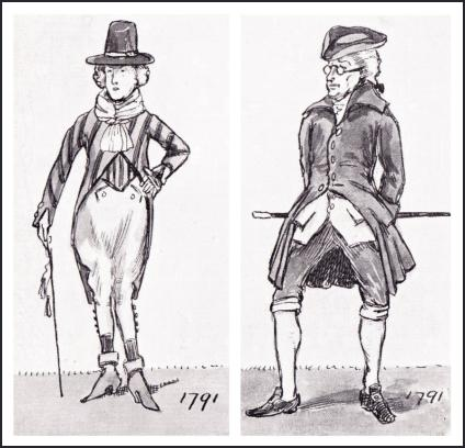 MEN'S COAT DRAWINGS 1791.