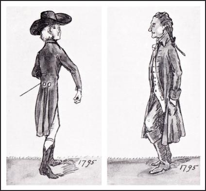 MEN'S COAT DRAWINGS 1795.