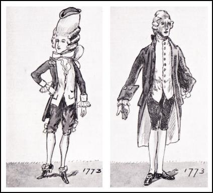 MEN'S COAT DRAWINGS 1773.