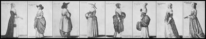 Costumes Drawings by Wenceslaus Hollar, circa 1640