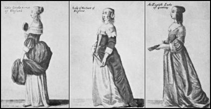Hollar 17th Century Noble Ladies