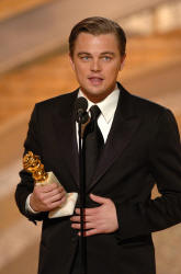 Picture of Leonardo DiCaprio accepting an Oscar at the 62nd Golden Globe Awards � HFPA