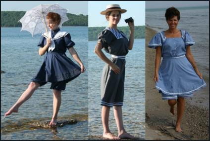 Recollections - Retro Re-enactment Edwardian Swimwear