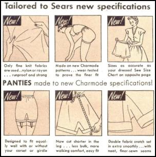 Sears Catalogue made a great case for their specially made panties made to new Charmode specifications.