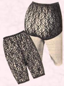 1960s Winter Warmers - Nylon Lace Long Johns, Petti Pants