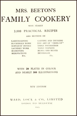 Mrs Beeton's Family Cookery Book 1923